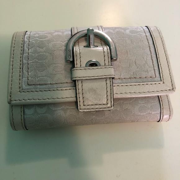 Coach Handbags - Coach White Wallet